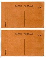 ENTIER POSTAL . CARTE POSTALE . F. M. . FRANCHISE MILITAIRE . 2 CARTES - Réf. N°24623 - - Marcofilie (Brieven)