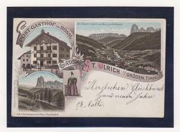 """Österreich Color-Litho  """"Gruss Von St.Ulrich I/Gröden,Tirol"""" EF 51 O St.Ulrich In Gröden/28.12.96 Nach Deutschland - 1850-1918 Empire"""