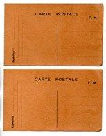 ENTIER POSTAL . CARTE POSTALE . F. M. . FRANCHISE MILITAIRE . 2 CARTES - Réf. N°24624 - - Marcofilie (Brieven)