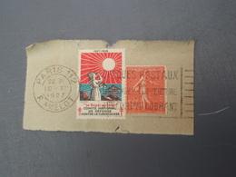 Flamme Oblitération  PARIS 112 Timbre Contre La Tuberculose  + Semeus E De Lignée 50 C 1927 - Non Classés