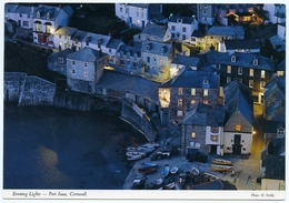 JOHN HINDE : EVENING LIGHTS, PORT ISAAC, CORNWALL (10 X 15cms Approx.) - Inghilterra