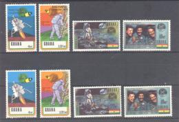 Ghana  Michel #  397 - 400 **  405 - 08 **  Apollo XI - Ghana (1957-...)