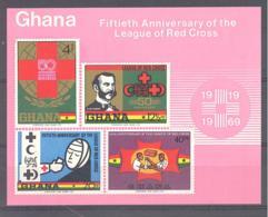 Ghana  Michel #  Block 38 **  Red Cross - Ghana (1957-...)