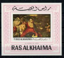 RAS AK KHAIMA    1970   LA  VIERGE  AU  LAPIN    1  SHEET     MNH** - Ra's Al-Chaima