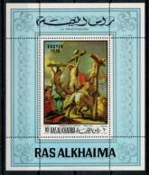 RAS AK KHAIMA    1970   LA CROCIFISSIONE  DI  GIAMBATTISTA  TIEPOLO   1  SHEET     MNH** - Ra's Al-Chaima