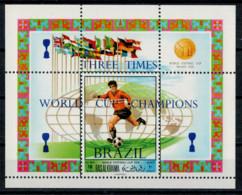 RAS AK KHAIMA    1970   WORLD  CUP  CHAMPION     BRAZIL      1  SHEET     MNH** - Ra's Al-Chaima