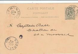 MOORSEL CARTE DE CORRESPONDANCE 1893 - Wevelgem