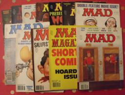 12 N° De MAD De 1980-1982. Jack Richard, Don Martin, David Berg, Jaffee. En Anglais - Sammlungen