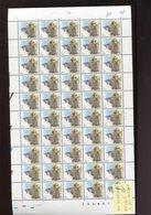 Belgie Buzin Birds 1fr 2759 Volledig Vel Plaatnummer 1 17/12/1999 Date RR ABD0102 - 1985-.. Vogels (Buzin)