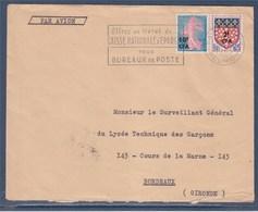 = Timbres CFA Sur Enveloppe Saint Denis Réunion 19.10.63 Flamme Livret De Caisse D'Epargne N°349 Et 344 - Réunion (1852-1975)
