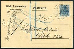 1920 Germany, Alois Langenstein, Immenstaad Bodensee Postcard - Cartas