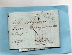 """17/10/1806-L.A.C. De NICE Avec Connaissement De La Tartane """"La Belle Julie"""". - 1801-1848: Vorläufer XIX"""