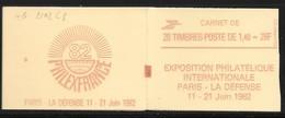 Carnet 2102-C8 Sabine De Gandon 1,40 Rouge Couverture Code Postal Conf 8 Daté 3.12.80 - Carnets