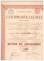 Titre Ancien - Fabrique Russe De Courroies Lechat - Titre De 1900 - - Industrie