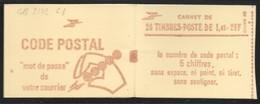 Carnet 2102-C7 Sabine De Gandon 1,40 Rouge Couverture Code Postal Conf 8 - Carnets