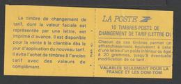"""Timbre - Carnet Usage Courant  - N° 2713 - C1 - Type Marianne  De Briat - """"changement De Tarif"""" - 10 T - Autoadhésif - Carnets"""