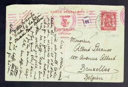 CP132A I !!! REPONSE !!! Lublin ( Pologne ) 25 IV 42 => Bruxelles Censure Allemande - Cartes Postales [1934-51]