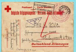 Postkaart Belgische Krijgsgevangenen Van Korbeek-Loo Via LEUVEN 19/01/1941 Naar STALAG VIII A - Gorlitz Breslau + ... - Guerre 40-45