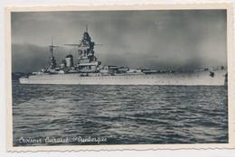 Rare CPSM Croiseur Cuirassé Dunkerque écrite Toulon Mardi 9 H00 Du  Matin Sabordé 1942 - Guerre 1939-45