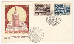 TUNISIE - Enveloppe FDC - Foire De Tunis 1956 - Lettres & Documents