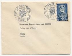 TUNISIE - 5 Enveloppes Cachets Premier Jour - SIDI LAMINE PACHA - TUNIS 1954 - Tunisia (1888-1955)