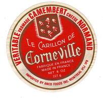 Mar20   27031     étiquette Camembert  Le Carillon De Corneville - Cheese