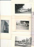 FOTO  Tram Tramway Vicinal     4 Foto's Omgeving Gent - Photos