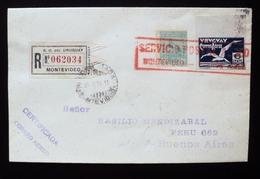 1926 URUGUAY V19d  FLIGHT VUELO VOL Recommended MONTEVIDEO-BUENOS AIRES Airmail Postal Service Bird Tero Teru - Uruguay