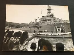 Croiseur Jeanne D'arc En Polynésie 1955/1957 Depart Où Arrivée Du Jeanne D'arc Photo 18 X 13 Cm - Guerra, Militari