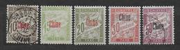 CHINE  - TAXE - YVERT N° 2/6 * MH / OBLITERES Used - (30c DEFECTUEUX) - COTE = 81 EUR. - - Gebraucht