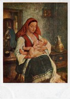 Young Mother By Vasil Stoilov USSR 1960 - Paintings