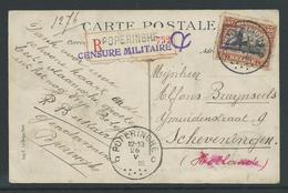 Postkaart Aangetekend Verstuurd Uit Poperinghe 26.5.16 - Guerre 14-18