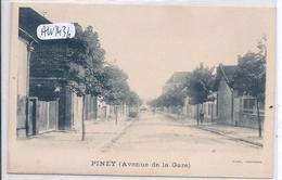 PINEY- L AVENUE DE LA GARE EN 1900 - Autres Communes