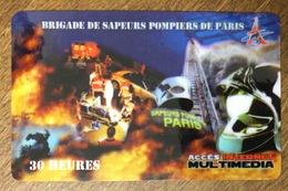 SAPEURS POMPIERS DE PARIS CARTE PASSMAN 30H WIFI WI FI INTERNET QUE POUR COLLECTION PAS TÉLÉCARTE PHONECARD - Feuerwehr