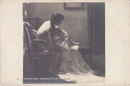 """SALON 1905 : TABLEAU DE ROBERTY. """" A LA TOILETTE """" FEMME NUE.N.CIRCULEE.T.B.ETAT.PETIT PRIX.COMPAREZ!!! - Schilderijen"""
