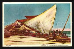 Recife Fishing Boat Brasil Ca1930  - Hermosa Tarjeta Postal Fotografica W5_1405 - Recife