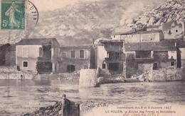 LE POUZIN           INONDATIONS  OCTOBRE 1907            ECOLES DES FRERES ET BONNETERIE - Le Pouzin