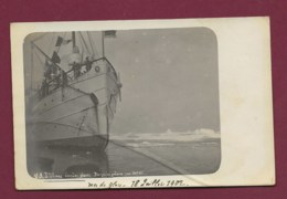 210320A - ANTARCTIQUE CARTE PHOTO Bateau OIHONNA Dans Les Glaces Banquise Polaire 1902 - Ansichtskarten