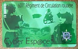 601 RÉGIMENT DE CIRCULATION ROUTIÈRE MOTO ARMÉE CARTE PASSMAN 30H WIFI INTERNET POUR COLLECTION TÉLÉCARTE PHONECARD - Armée