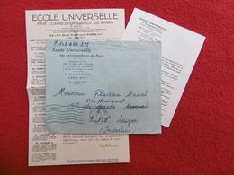 LETTRE CACHET P P PARIS VIA SAIGON INDOCHINE 1951 - 1921-1960: Modern Period