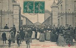 93) AUBERVILLIERS : Sortie De La Manufacture D'Allumettes (1908) - Aubervilliers