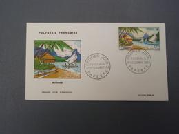 Enveloppe Premier Jour Polynésie Française MOOREA  PAPEETE 1964 - FDC