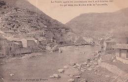 LE POUZIN          APRES LES INONDATIONS  OCTOBRE 1907            CE QUI RESTE DES ECOLES...... - Le Pouzin