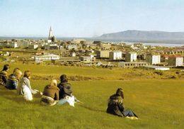 1 AK Island Iceland * Blick Auf Die Hauptstadt Reykjavík - Luftbildaufnahme * - Island