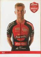 Postcard Eli Iserbyt - Pauwels-Bingoal - 2019-2020 - Cycling