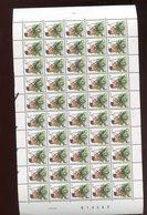 Belgie Buzin Birds 4.50fr 2397 PRE825 Volledig Vel Plaatnummer 1 18/12/1990 - 1985-.. Vogels (Buzin)