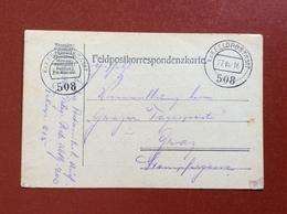 K.U.K. FELDPOSTAMT 508 - 27 VII 16 - Guerre 1914-18