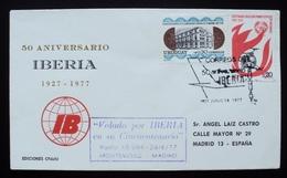 1977 URUGUAY V148 FLIGHT VUELO VOL MONTEVIDEO-MADRID AVION Airline IBERIA AIRCRAFT FIREMEN Pompier Coin - Uruguay