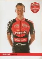 Postcard Laurens Sweeck - Pauwels-Bingoal - 2019-2020 - Cycling