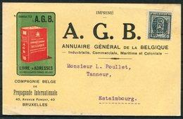 "Belgium ""Bruxelles 1926 Brussel"" Precancel A.G.B. Propagande Internationale, Illustrated Advertising Postcard - Roller Precancels 1920-29"